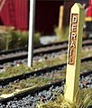 Derail Post -- N Scale Model Railroad Trackside Accessory -- #3041