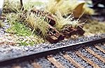 Scenic Ties -- N Scale Model Railroad Trackside Accessory -- #3044