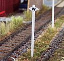 Whistle Post CP -- N Scale Model Railroad Trackside Accessory -- #3047