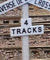 Crossbuck Track Numbers -- N Scale Model Railroad Trackside Accessory -- #3085