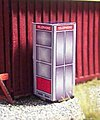 Vintage Phone Booth Kit -- N Scale Model Railroad Building Accessory -- #3088