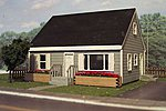 2 Bedroom Home -- N Scale Model Railroad Building Kit -- #3103