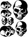 Skulls Paint Mask