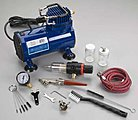 Beginners Set Single Action -- Airbrush and Airbrush Set -- #h100d