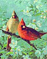 Cardinals & Cherry (16''x20'') -- Paint By Number Kit -- #21737