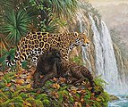 El Dorado (Leopards/Jungle) (20''x16'') -- Paint By Number Kit -- #21756