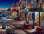 Starry Night (Town Street/Shops) (20''x16'') -- Paint By Number Kit -- #21757
