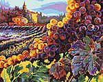 Tuscany Harvest (Vineyard Scenery) (20''x16'') -- Paint By Number Kit -- #22035