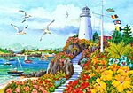 Coastal Paradise (Lighthouse)(20''x16'') -- Paint By Number Kit -- #22044