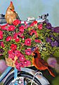 Bird (Cardinals in Basket on Bike)(16''x20'') -- Paint By Number Kit -- #22047