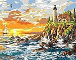 Craggy Cove (Lighthouse Scene)(16''x20'') -- Paint By Number Kit -- #22059