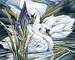 Everlasting Love (Swans)(16''x20'') -- Paint By Number Kit -- #22062