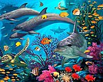 Secrets of the Reef -- Paint By Number Kit -- #22076
