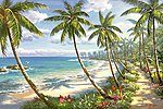 Tropical Paradise Paint by Number (20''x16'')