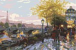 Thomas Kinkade- Paris Eiffel Tower Paint by Number (20''x16'')
