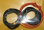 Radiator Hose, Orange Heater Hose, Black Battery Cable -- Plastic Model Engine Detail -- #1011
