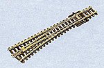 Code 80 Medium Radius #6 Turnout Left Hand Insulfrog -- Model Train Track -- N Scale -- #1739