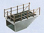 Subway Staircase Kit -- Model Railroad Building Accessory -- HO Scale -- #7