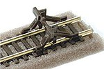 Code 80 Buffer Stop (6pk/cd) -- Model Train Track Accessory -- N Scale -- #sl340