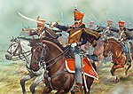 British Napoleonic Hussars 1808-15 (14 Mtd) -- Plastic Model Military Figure -- 28mm -- #502