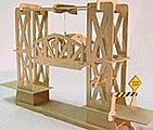 Truss Design Moving Lift Bridge Wood Kit