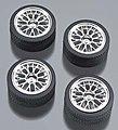 23'' Volante Chrome Rims w/Tires -- Plastic Model Tire Wheel -- 1/24 Scale -- #2209