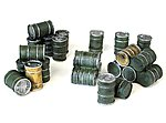 Oil Drums -- Plastic Model Military Diorama -- 28mm Scale -- #5210