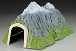 Small Straight Tunnel -- Model Railroad Tunnel -- HO Scale -- #6405