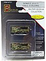 SdKfz 251/1 Halftrack Camo (2) (Assembled) -- Plastic Model Military Vehicle -- 1/144 Scale -- #721
