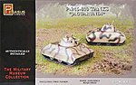 P-245-010 German Jaguarundi Tanks (2) -- Plastic Model Military Vehicle Kit -- 1/72 Scale -- #7606