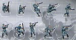 German Infantry WWII (10) (Painted) -- Plastic Model Military Figure -- 1/144 Scale -- #851