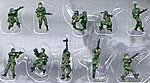 Modern American Infantry NATO (10) Painted -- Plastic Model Military Figure -- 1/144 Scale -- #854