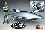 My Favorite Martian Uncle Martin/Spaceship -- Science Fiction Plastic Kit -- 1/18 Scale -- #9012