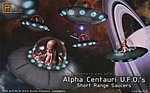 Alpha Centauri UFO (2) -- Science Fiction Plastic Model Kit -- 1/32 Scale -- #9102