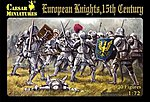 European Knights 15th Century (30) -- Plastic Model Military Figure -- 1/72 Scale -- #c091