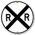 Sign Railroad Crossing
