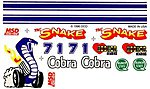 Pinewood Derby Cobra Decal -- Pinewood Derby Decal and Finishing -- #p309