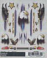 Eagle Dry Transfer 4x5 -- Pinewood Derby Decal and Finishing -- #p4030