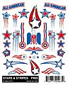 Pinewood Derby Stars & Stripes -- Pinewood Derby Decal and Finishing -- #p463