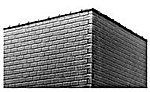 Cap Tiles for Brick & Concrete Block Walls -- HO Scale Model Railroad Scratch Supply -- #1008