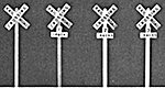 Crossbucks Kit w/Decal Lettering (4) -- HO Scale Model Railroad Trackside Accessory -- #1017