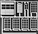 Machine Shop Doors & Windows Kit (8) -- HO Scale Model Railroad Scratch Supply -- #3000