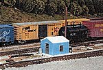 Yard Office/Storage Kit -- HO Scale Model Railroad Building -- #5