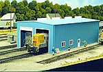 Modern Single or Double Stall Engine House Kit -- HO Scale Model Railroad Building -- #8