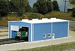Engine House Building Kit -- N Scale Model Railroad Building -- #8007