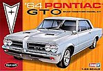 1964 Pontiac GTO Hardtop Car (Snap) -- Plastic Model Car Kit -- 1/25 Scale -- #928
