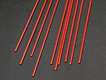 Rod Round Fluorescent Red 1/16 (10 -- Model Scratch Building Plastic Rods -- #90271