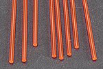 Fluorescent Acrylic Rod-Red -- 3/32 x 10'' Long (8)