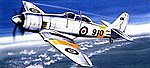 Hawker Sea Fury T-20 -- Plastic Model Airplane Kit -- 1/72 Scale -- #212