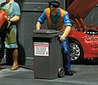 Gray Garbage Bins (2 Pack) -- G Scale Model Railroad Building Accessory -- #333205